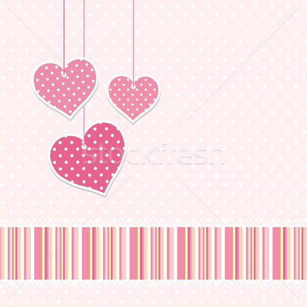 cute hearts background Stock photo © hayaship