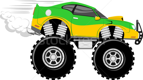 4x4 race car cartoon Stock photo © hayaship