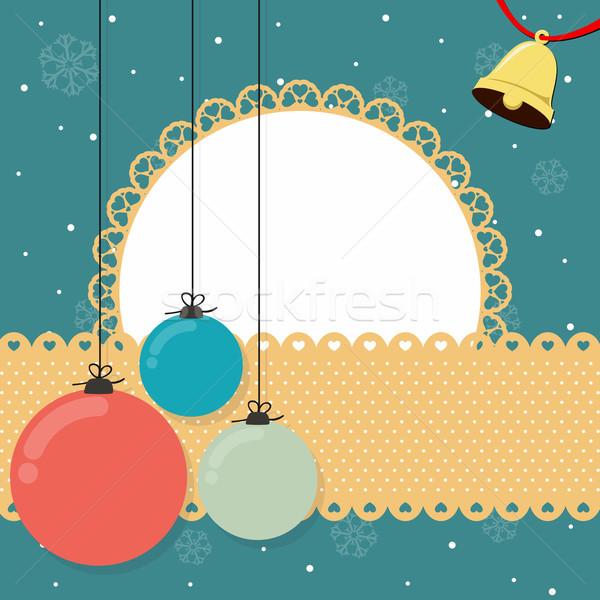 Foto d'archivio: Natale · campana · banner · sfondo · carta