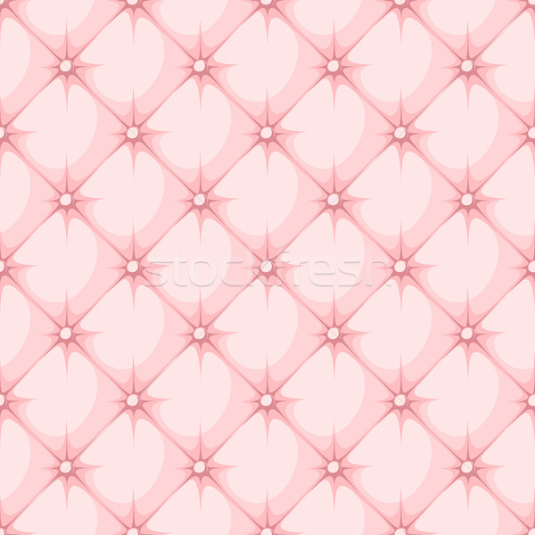 pink padded upholstery buttoned rhomb seamless pattern Stock photo © hayaship