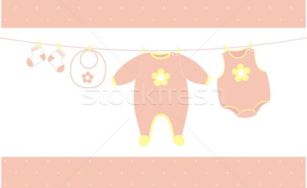 Baby girl cloths hanging Stock photo © hayaship
