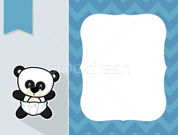 çerçeve bebek panda sevimli küçük Stok fotoğraf © hayaship