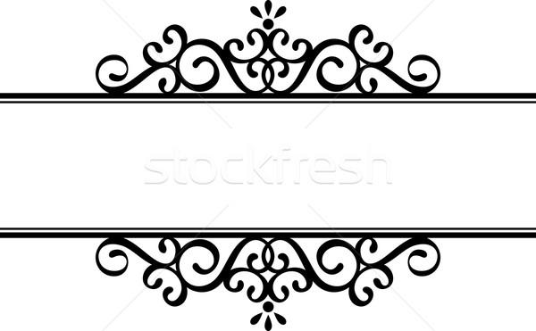 decorative vignette silhouette Stock photo © hayaship