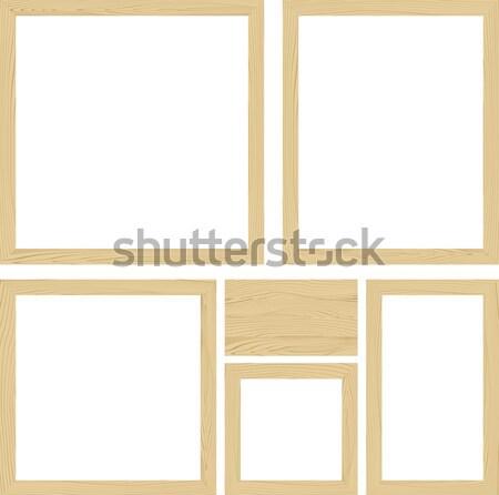 Vecteur bois cadres illustration vide Photo stock © hayaship