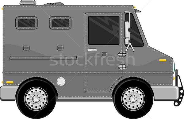 armored truck vehicle cartoon Stock photo © hayaship