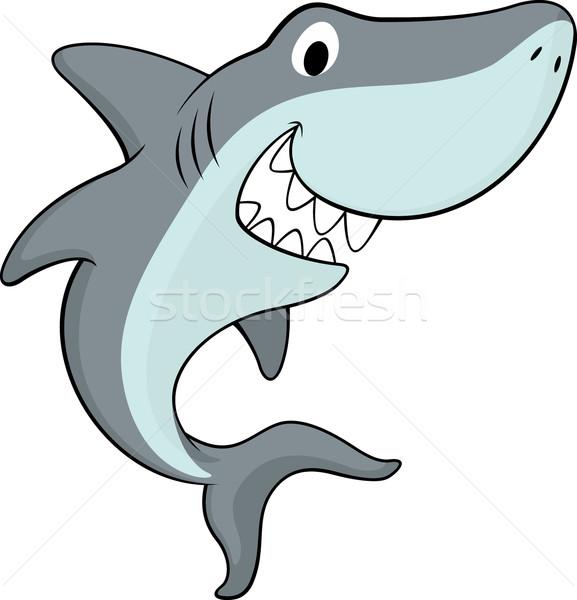 shark cartoon vector vector illustration © sergio hayashi ...