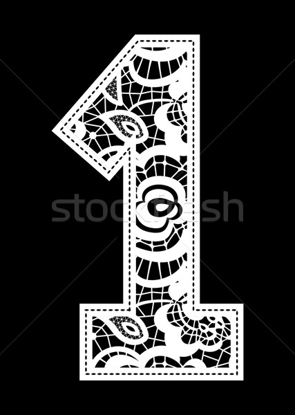 embroidery lace number 1 Stock photo © hayaship