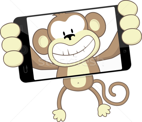 monkey selfie Stock photo © hayaship