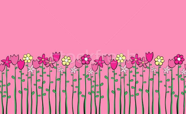 cute flowers background Stock photo © hayaship
