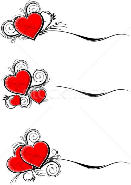 hearts borders Stock photo © hayaship