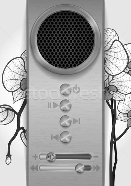 Stok fotoğraf: Soyut · konuşmacı · dizayn · eps · 10 · müzik
