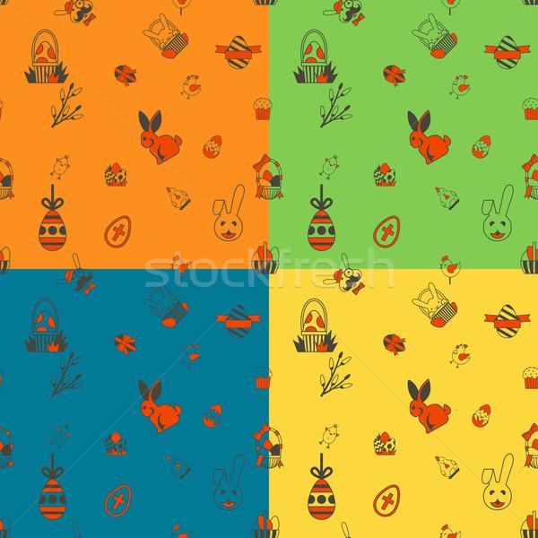 Easter Seamless Pattern Stock photo © HelenStock