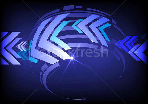 Arrow Blue Background With Place For Your Text. Stock photo © HelenStock