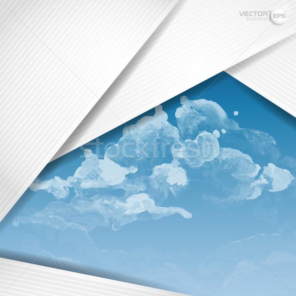 Abstract bianco carta eps 10 Foto d'archivio © HelenStock