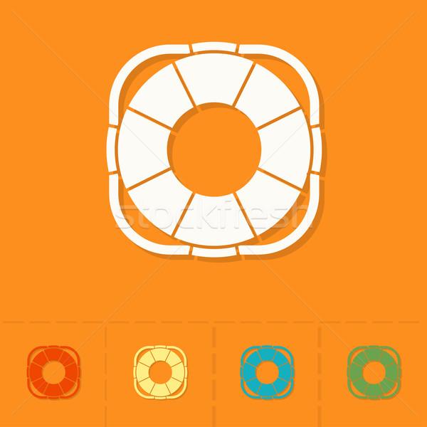 été plage simple icônes vecteur design Photo stock © HelenStock