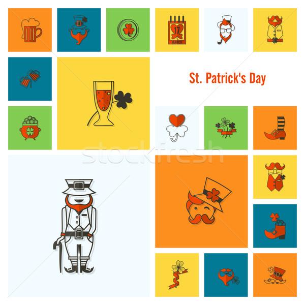 Saint Patricks Day Icon Set Stock photo © HelenStock