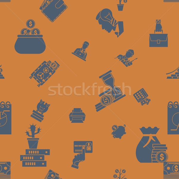 Business and Finance Seamless Pattern Stock photo © HelenStock