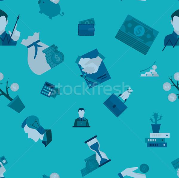 Działalności finansów proste stylu Zdjęcia stock © HelenStock