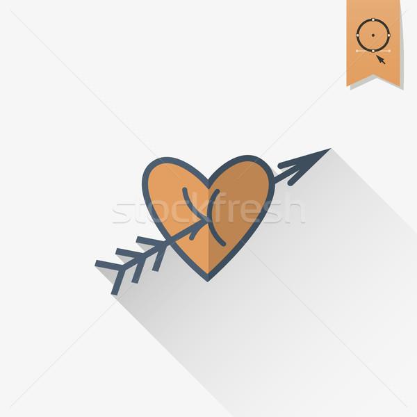 счастливым икона простой свадьба любви Сток-фото © HelenStock