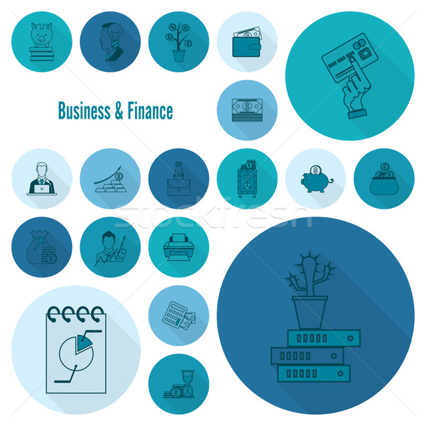 Business and Finance Icon Set Stock photo © HelenStock