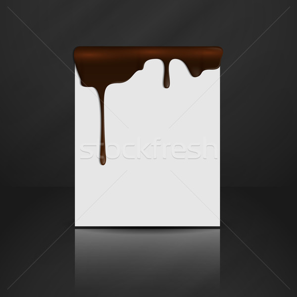 Melted Chocolate Dripping. Stock photo © HelenStock