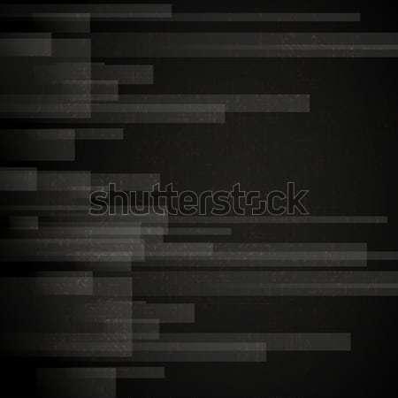 Streszczenie czarny prostokąt eps 10 Zdjęcia stock © HelenStock