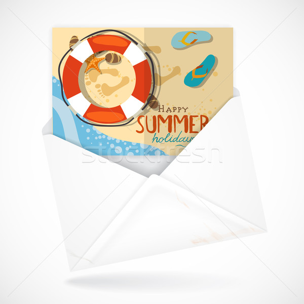 Postal Envelopes With Greeting Card Stock photo © HelenStock