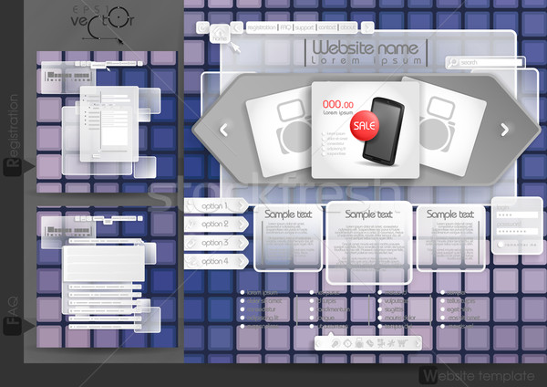 Website Design Template Menu Elements Stock photo © HelenStock