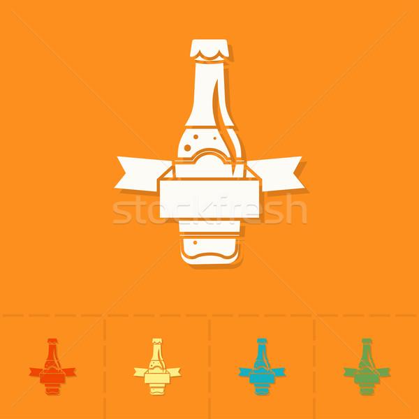 Oktoberfest bier festival glas bierfles ontwerp Stockfoto © HelenStock