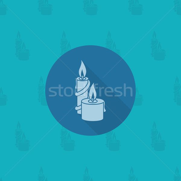 Christmas Candles. Monochrome color Stock photo © HelenStock