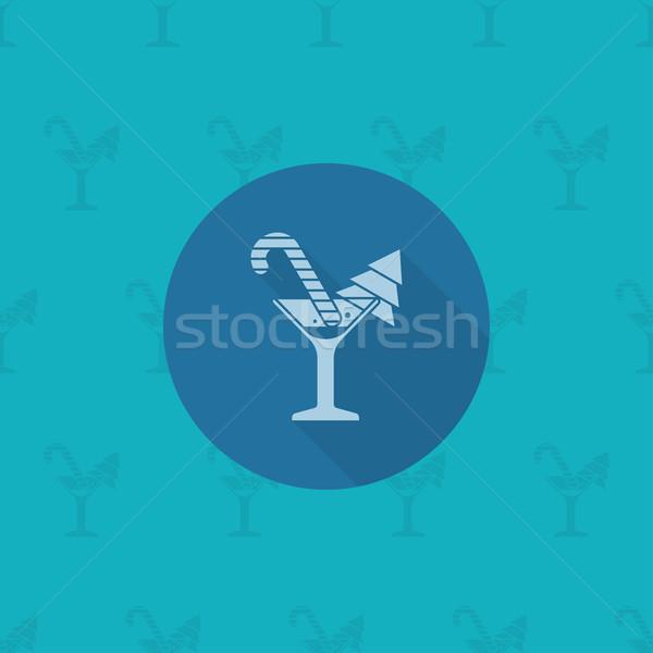 Karácsony koktél monokróm szín vektor hosszú Stock fotó © HelenStock