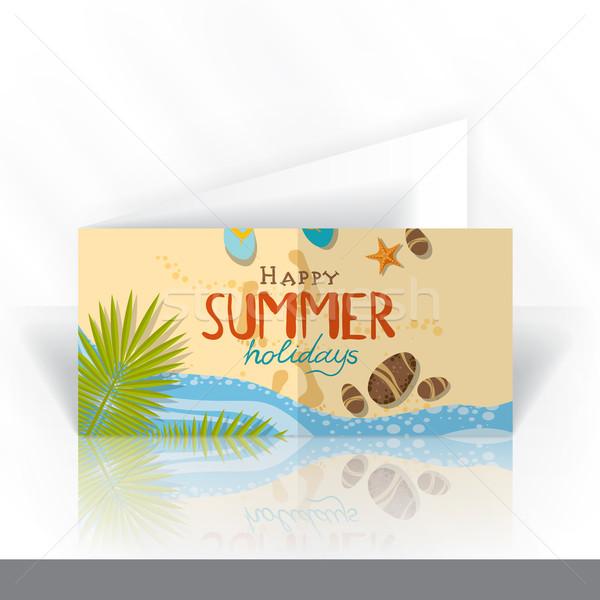Einladungskarte Design-Vorlage eps 10 Party glücklich Stock foto © HelenStock