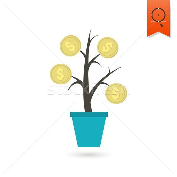 Ceny kwiat działalności finansów ikona proste Zdjęcia stock © HelenStock