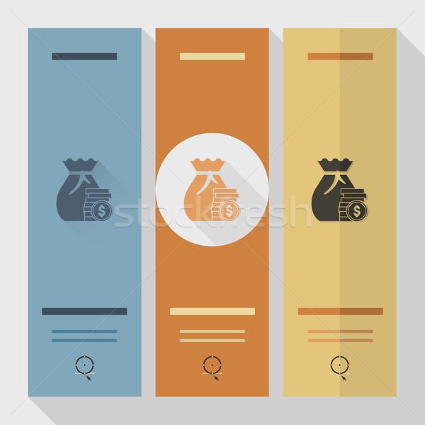 Dinero negocios financiar icono simple Foto stock © HelenStock