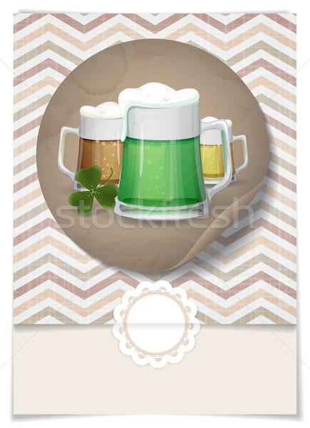 Mug Of Green Beer For St Patrick's Day. Stock photo © HelenStock