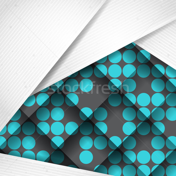 Abstract Background With White Paper Layers Stock photo © HelenStock
