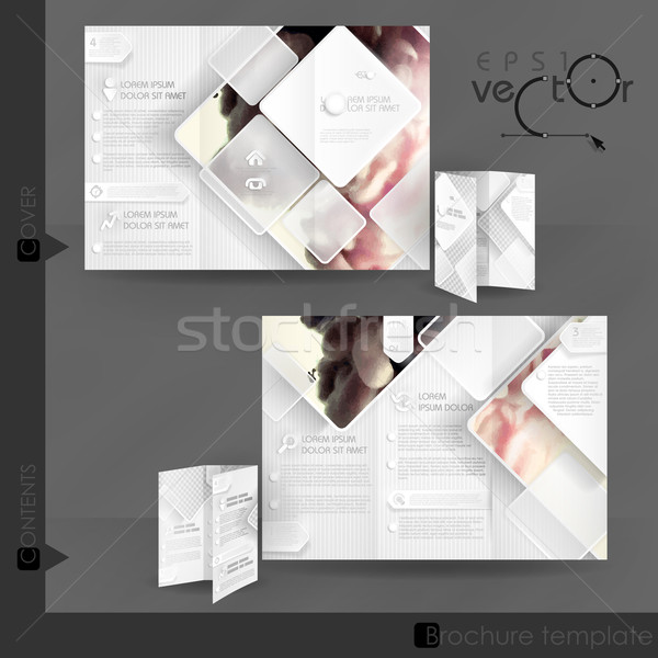 Działalności broszura szablon projektu biały placu Zdjęcia stock © HelenStock