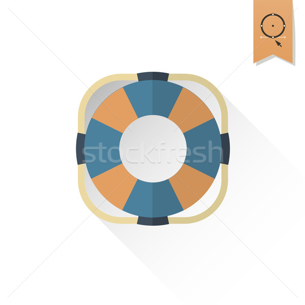 夏 ビーチ 単純な アイコン ベクトル デザイン ストックフォト © HelenStock