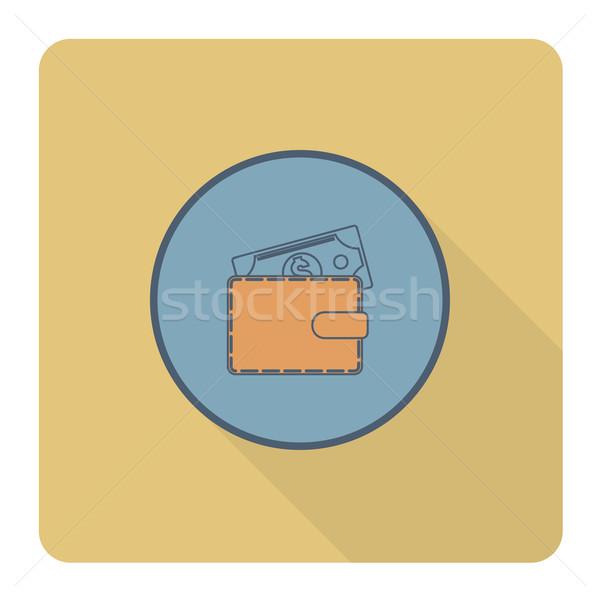 Portfela ceny działalności finansów ikona proste Zdjęcia stock © HelenStock