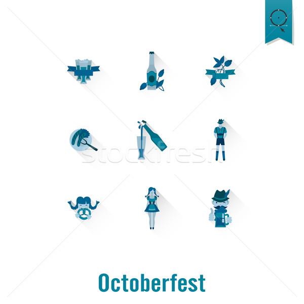 Photo stock: Oktoberfest · bière · festival · longtemps · ombre · design