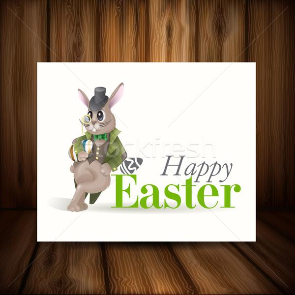 Conejo de Pascua eps 10 primavera feliz diseno Foto stock © HelenStock