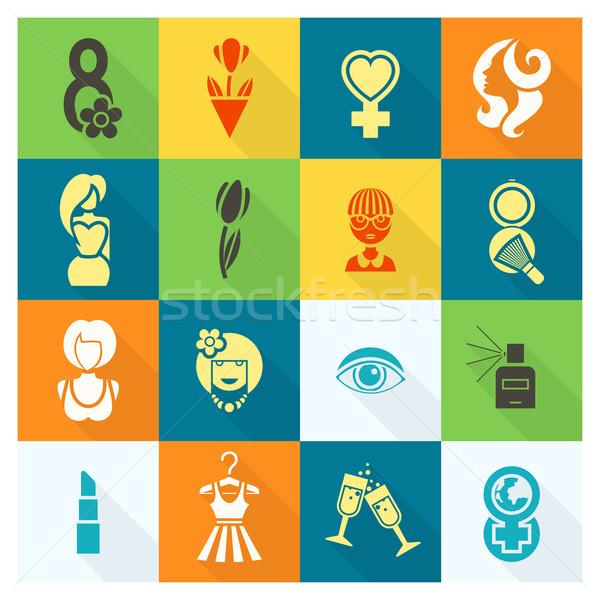 Foto d'archivio: Giorno · design · elementi · internazionali · festa · della · donna