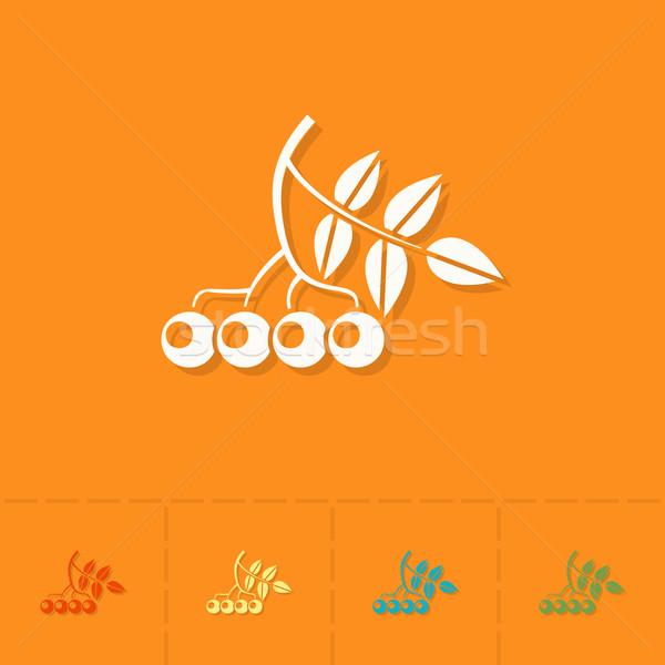 Karpuzu sonbahar ikon basit minimalist Stok fotoğraf © HelenStock