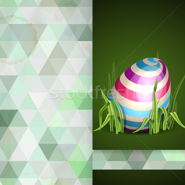 Easter Background With Eggs In Grass Stock photo © HelenStock