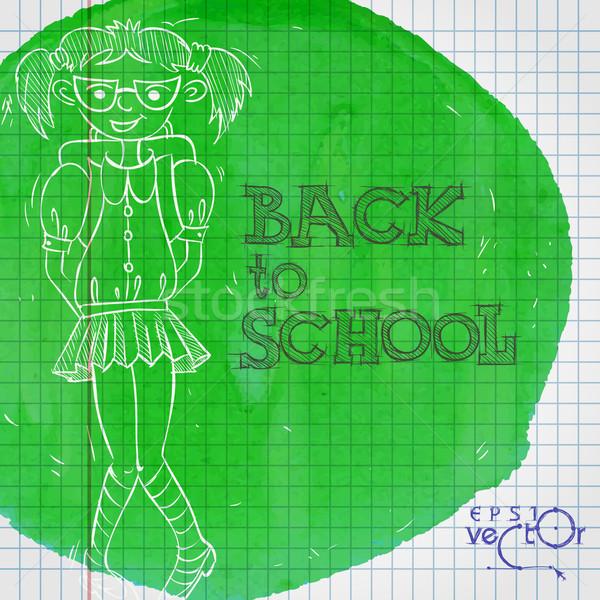 Escolas material escolar eps 10 negócio livro Foto stock © HelenStock
