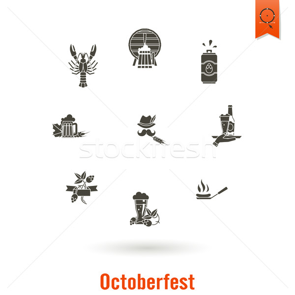Oktoberfest piwa festiwalu projektu stylu wektora Zdjęcia stock © HelenStock