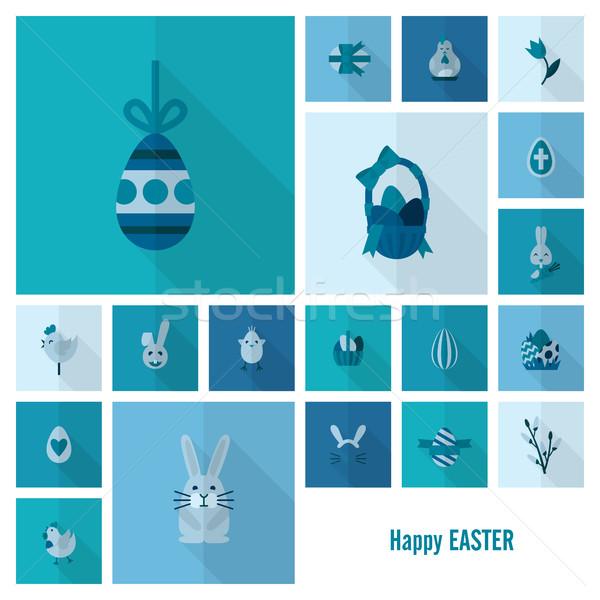 お祝い イースター アイコン ベクトル クリーン 作業 ストックフォト © HelenStock
