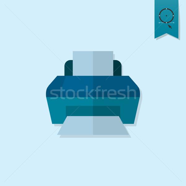 Yazıcı iş finanse ikon basit minimalist Stok fotoğraf © HelenStock