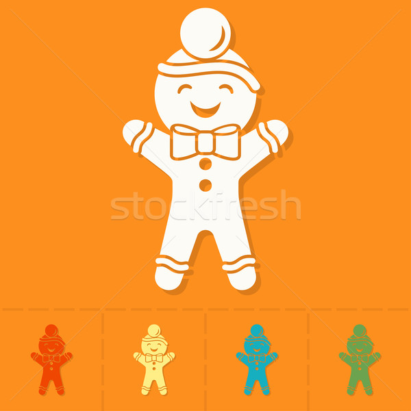 Stock photo: Gingerbread Man. Colorful