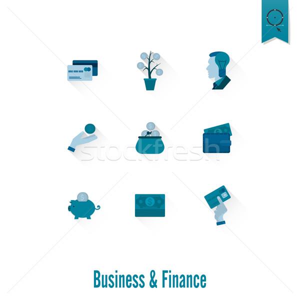 Negocios financiar simple estilo Foto stock © HelenStock